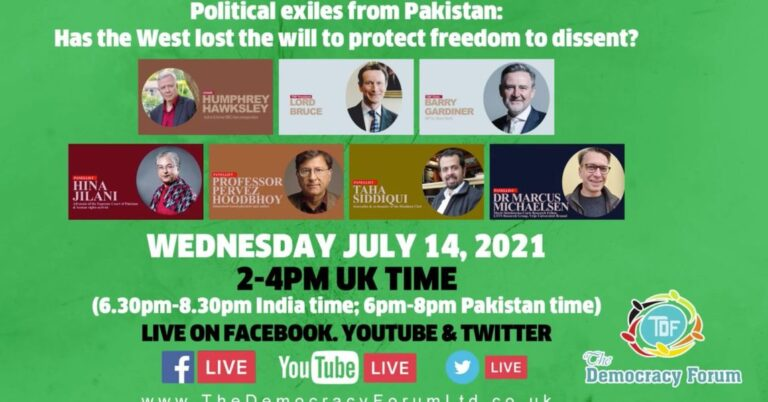 Political exiles from Pakistan: Has the West lost the will to protect freedom to dissent?
